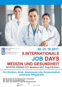 Plakat 9. Internationale Job Days Prag