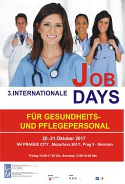 Plakat 3. Internationale Job Days Prag