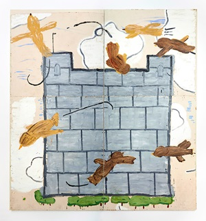 "Rose Wylie ""Leeds Castle"" 2013 © Rose Wylie, Choi & Lager Gallery Köln"